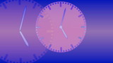 Time passing - background with 4 clocks poster