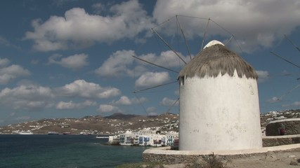 Famous windmill in Chora, Mykonos