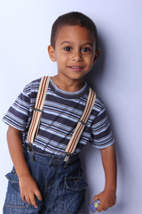 Handsome Young African American Boy