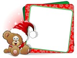 Orsetto Peluche Babbo Natale-Teddy Bear Christmas Card