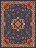 Oriental Floral Carpet Design -Illustration