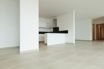 New apartement, kitchen, large room