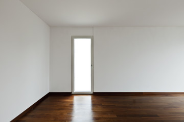 New apartement, empty room with door