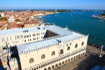 the waterfront of venice and the doge's palace
