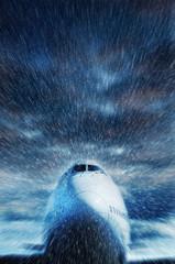 bad weather flight