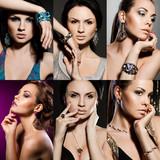 Fototapeta diament - biżuteria - Kobieta