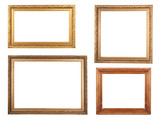 Fototapety Four antique picture frames.