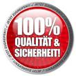 100% Qualität und Sicherheit! Button, Icon