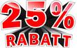 3D Text: 25 Prozent Rabatt