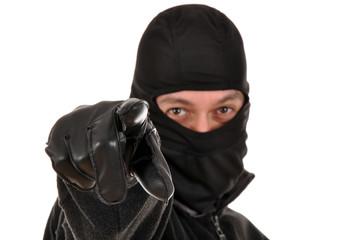 Einbrecher zeigt