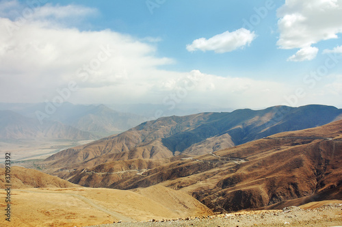 A beautiful view of the mountain Tibetan Plateau