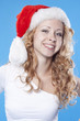 Pretty  adult blond Santa girl