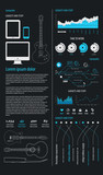 elements of infographics with electric guitar. poster