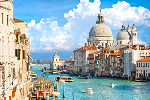 Aluminium Venice Venice, view of grand canal and basilica of santa maria della sa