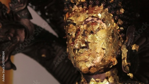 Buddha Statue with Gold Flakes