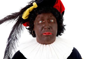 Zwarte piet ( black pete) typical Dutch character