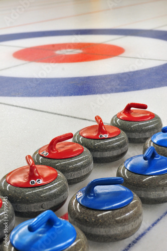 canvas print picture Curling