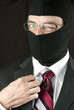 Businessman In Balaclava Winks