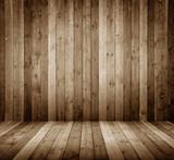 Fototapety Raum aus Holzbretter