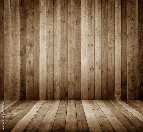 Raum aus Holzbretter