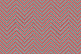 Trendy chevron patterned background red and grey poster