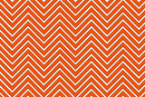 Trendy chevron patterned background, red and white poster