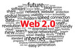 """WEB 2.0"" Tag Cloud (internet social networking www concept)"