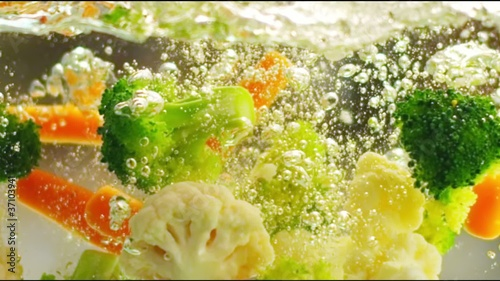 Vegetables in Slow Motion