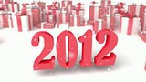 2012 on a presents background