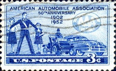 American Automobile Association. 1902. US Postage.