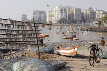 Mumbai fishing harbor