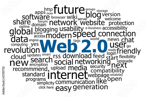 """WEB 2.0"" Tag Cloud (internet http www information technology)"