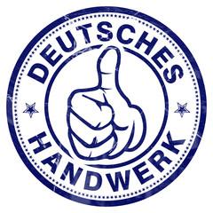 deutsches handwerk stempel button