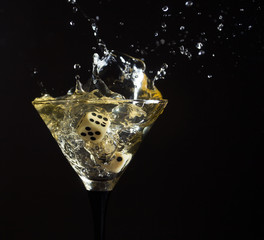 glass with martini.