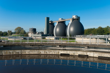 sludge digestion tanks