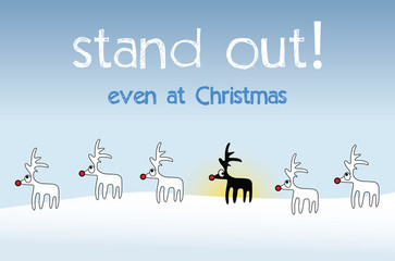 original and ironic christmas card - stand out
