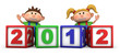 kids with 2012 number blocks