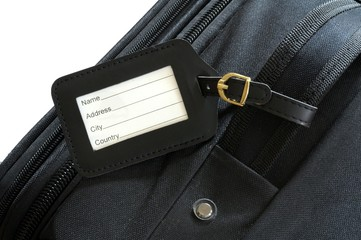 suitcase label