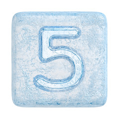 Ice cubes Font. Number 5
