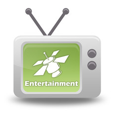 """Cartoon-style TV Icon """"SAT TV - Entertainment"""""""
