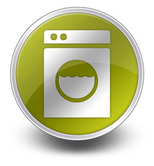 "Yellow Glossy Icon ""Laundromat"""