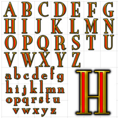 abc alphabet font background new yorker design