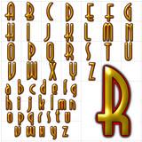abc alphabet font background selznick normal design poster