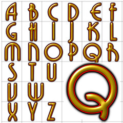 abc alphabet font background grenadier design