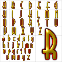 abc alphabet font background selznick normal design