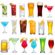 Set of different drinks, cocktails and beer - 37119311