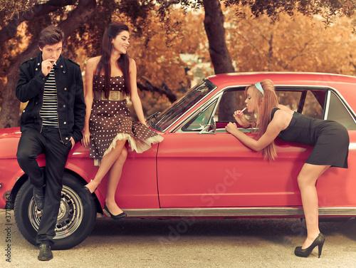 Fototapeta nastolatek - mężczyźni - Samochód