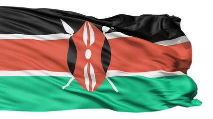 Flying Flag Of Kenya
