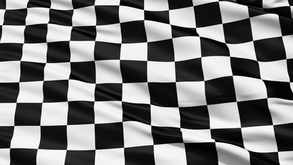 Fluttering Black And White Chequered Flag