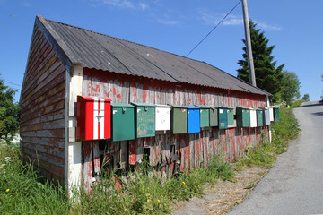 Hut and postboxes